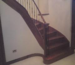 Newton Mearns Walnut Curved Staircase