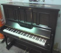 french polished upright piano